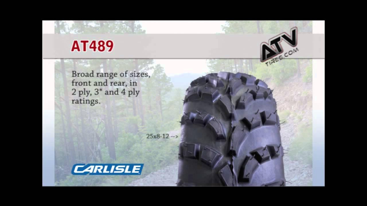 589-3H5 Carlisle AT489 22-11.00-10 ATV Tire 4 Ply