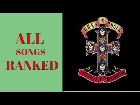 Guns N Roses, Appetite for Destruction. ALL SONGS RANKED!