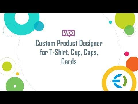 Woocommerce custom product designer for t shirt cup caps for Ez custom t shirts
