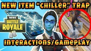"New item Freeze Trap ""Chiller"" Interactions With Objects / Testing Fortnite Battle Royale"