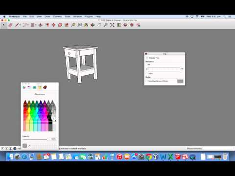 how to change the background colour in sketchup