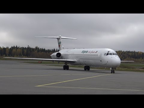 4K | RARE Bulgarian Air Charter MD-82 LZ-LDT Turnaround at Tampere-Pirkkala