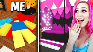 I Challenged MEGANPLAYS To HALLOWEEN Adopt Me Build Off! (Roblox)