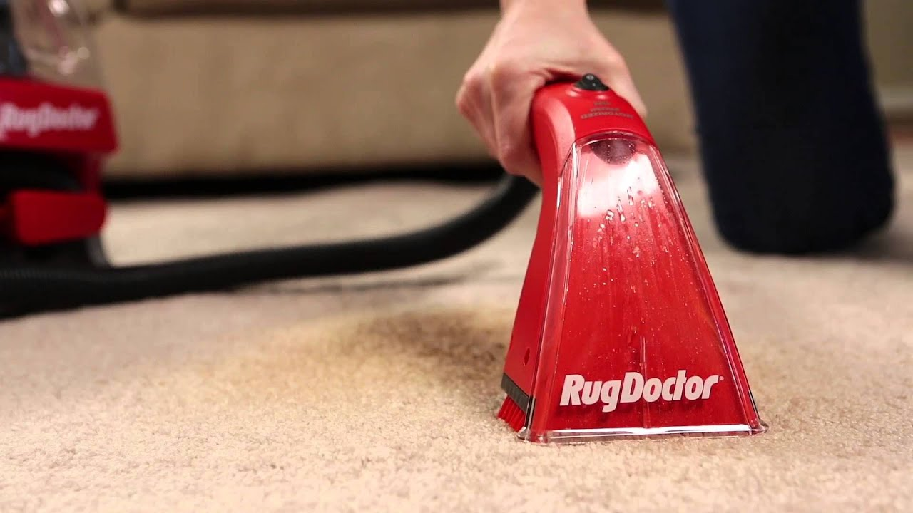 Rug Doctor Portable Spot Cleaner Tips for Cleaning  YouTube