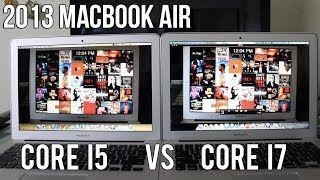 2013 macbook air 13 intel core i5 vs i7 performance comparison and benchmarks