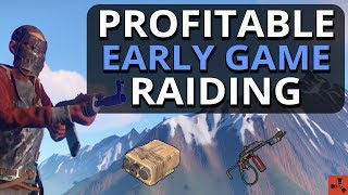 Great PROFIT From Early Game RAIDING!! Rust Solo Survival Gameplay