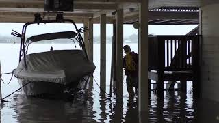 "My ""Bad Luck and Trouble"" Continues Lake LBJ Floods our Boathouse 2018..."