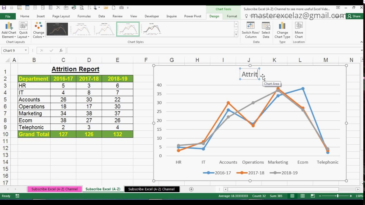 how to draw a line chart in excel