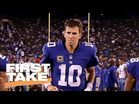 Eli Manning no longer elite? | First Take | ESPN