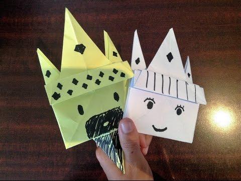 Origami King & Queen Tuorial - Easy