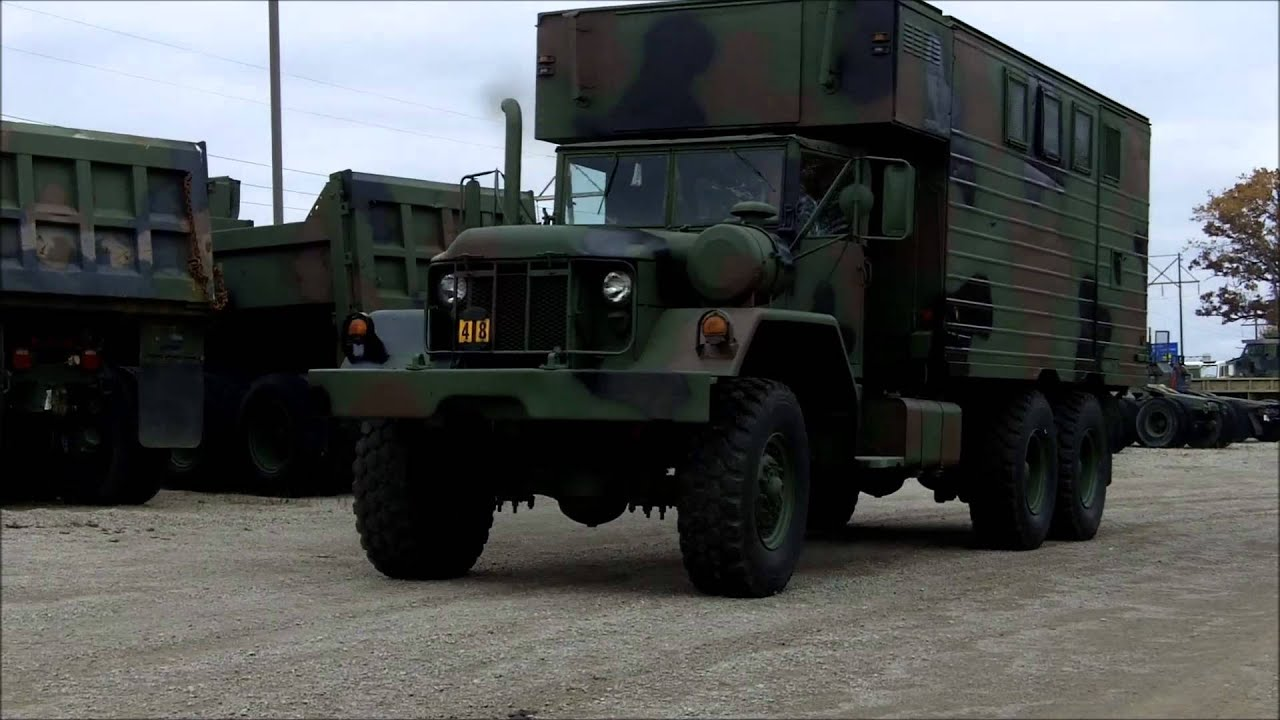 6x6 Military Trucks For Sale >> M820 6x6 5 Ton Military Truck Expansible Van - YouTube