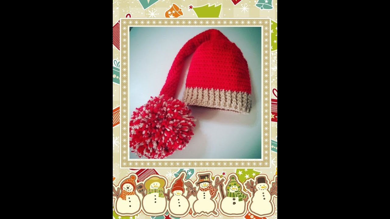 Gorro duende en crochet. - YouTube