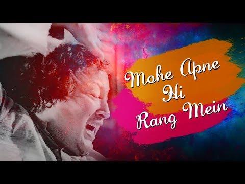 Mohe Apne Hi Rang Mein Rang Le Nizam with Lyrics by Nusrat Fateh Ali Khan | Rangreza