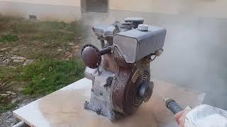 decapage au bicarbonate de soude d'un moteur bernard w110