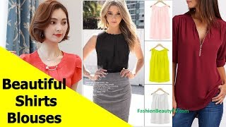 50 Beautiful Shirt and Blouse Designs For Women S14