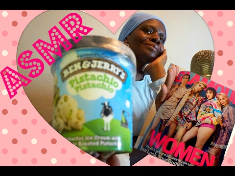Ice cream ASMR Eating Sounds/Soft Spoken/Ben & Jerry's