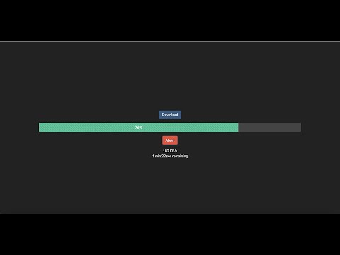 Download File Using Javascript And Show Remaining Time