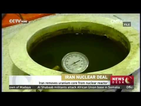 Iran removes uranium core from nuclear reactor