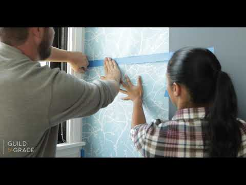 How to install removable wallpaper with Guild and Grace