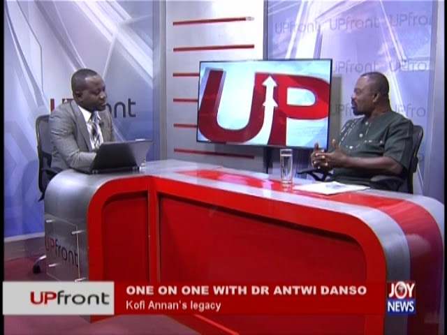 One on one with Dr Antwi Danso - UPfront on JoyNews (6-9-18)