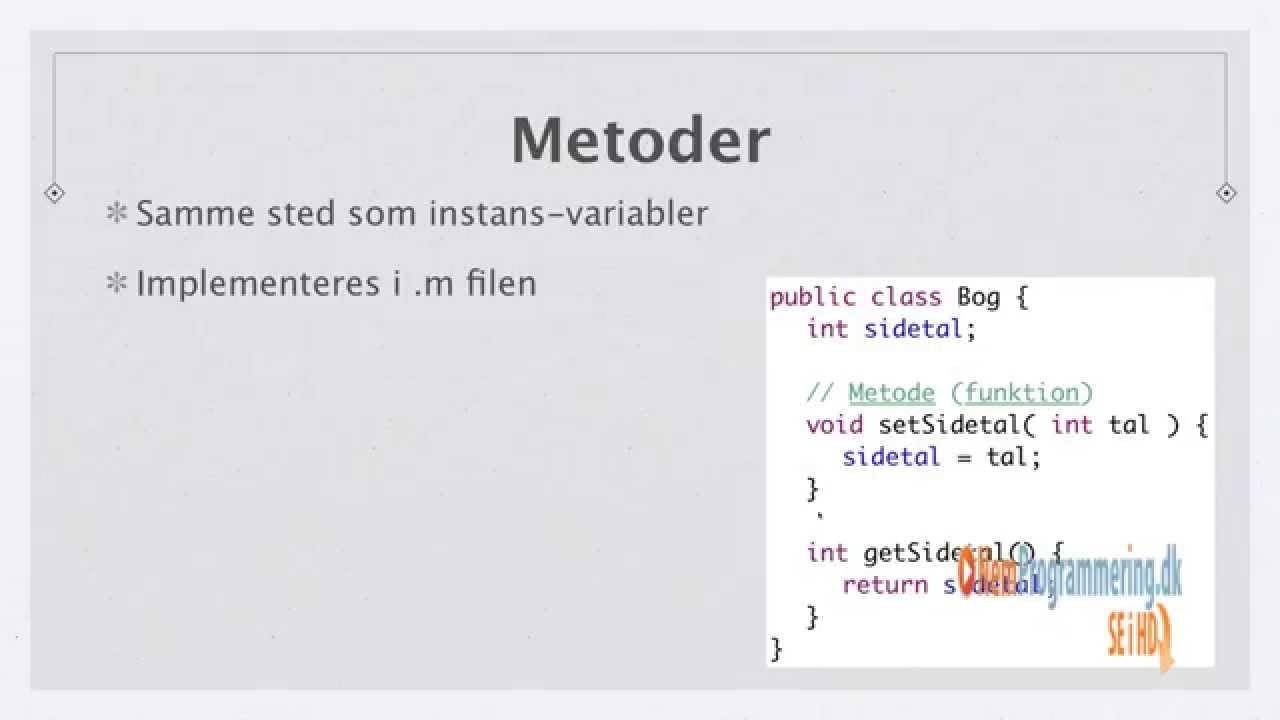 Java kursus / undervisning #14 | Instans variabler og metoder i Java OOP
