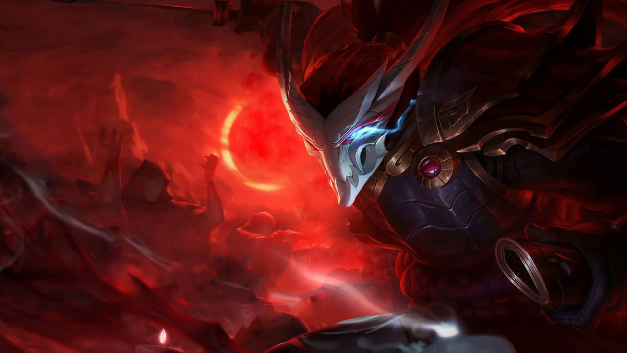 League Of Legends Blood Moon Yasuo Animated Splash Art Youtube