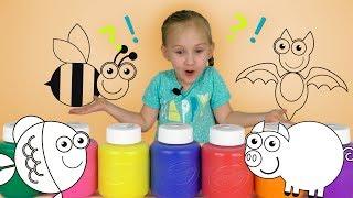 Раскраски для малышей. Учим цвета и раскрашиваем животных веселая анимация для детей