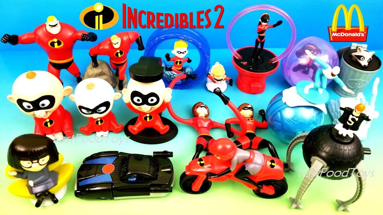 COMPLETE SET OF 10 McDonalds 2018 INCREDIBLES 2