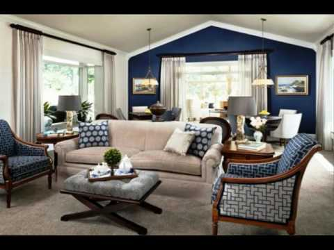 Navy Blue Wall Color Living Rooms