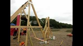 Best Slow Motion Trebuchet Launches - Multiple Styles - DFW 2012 Competition