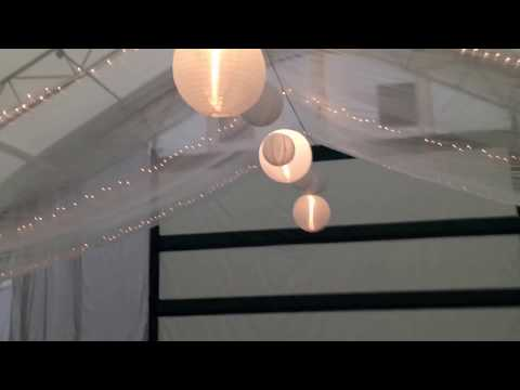 Ceiling Draping with fabric and lights