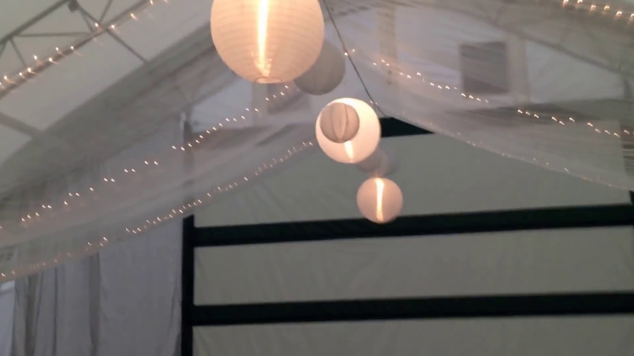 Ceiling D With Fabric And Lights