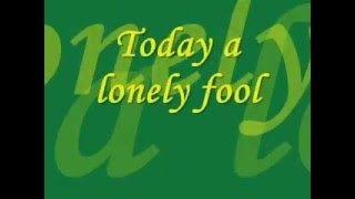 Today's Lonely Fool - Tracy Lawrence - Lyrics