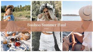BOOHOO SUMMER HAUL 2020- Try on dresses, bikinis, sports wear, shoes | SandraEmilia