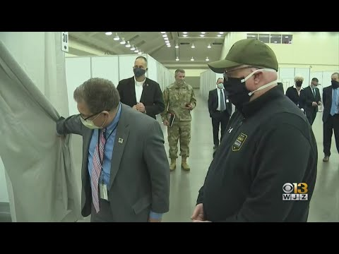 Hogan Tours Convention Center's Coronavirus Field Hospital