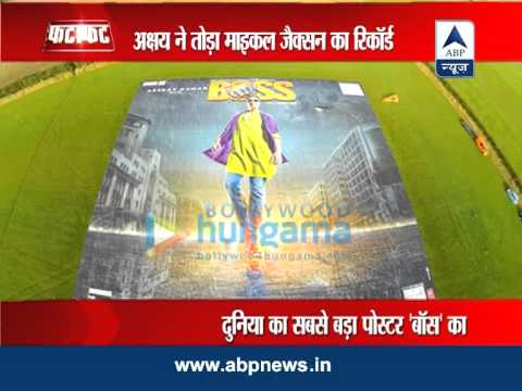 Akshay's 'Boss' enters Guinness Book World Records for largest poster
