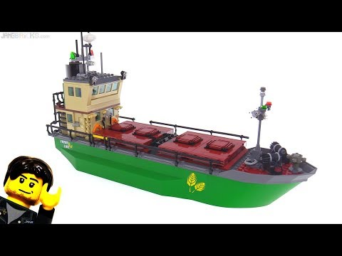 New Custom LEGO Cargo Ship -- dry bulk carrier MOC