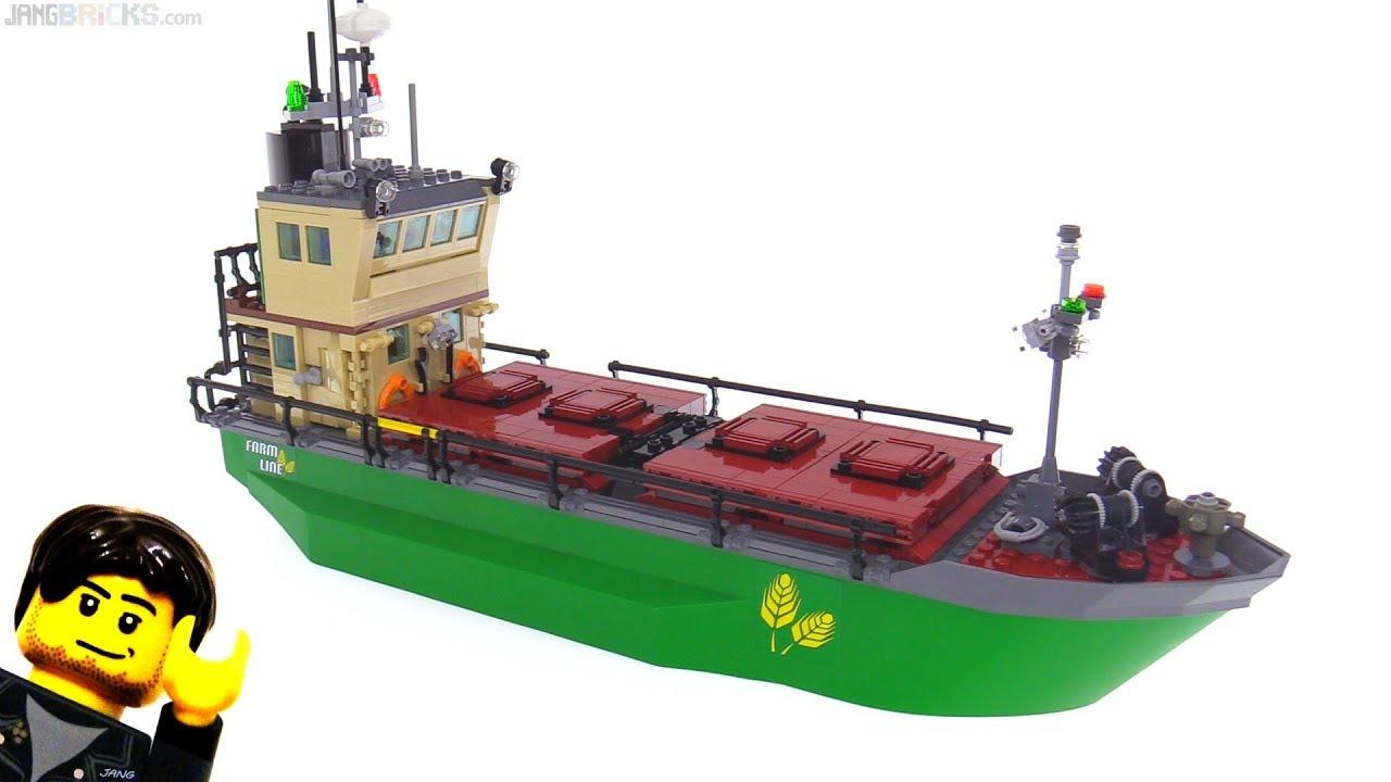 New Custom LEGO Cargo Ship -- dry bulk carrier MOC
