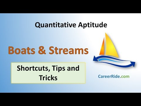 Boats And Streams - Shortcuts & Tricks For Placement Tests, Job Interviews & Exams