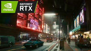 CYBERPUNK 2077 - FREE ROAM Nighttime Walk Downtown - PC 1440p Psycho Raytracing, MAX Settings