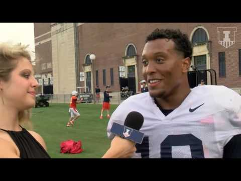 Illini LB Hardy Nickerson Interview 8/31/16