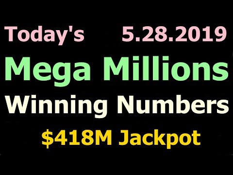 Today Mega Millions Winning Numbers 28 May 2019 Tuesday. Tonight Mega Millions Drawing 5/28/2019
