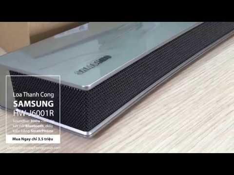 Loa thanh Cong HW-J6001R Samsung Soundbar Bluetooth 300W cao cấp điều khiển bằng Smart Phone (Bạc)