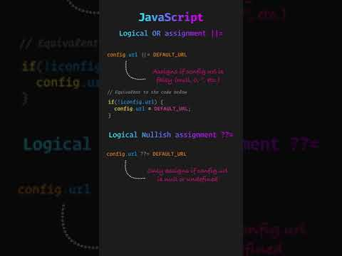 JavaScript: Logical OR and Nullish assignment in one minute #Shorts