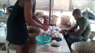 TK beads tour Ghana (glass beads making)