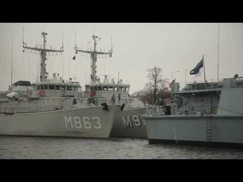 NATO 1. pastāvīgās jūras pretmīnu grupas kuģi ierodas Rīgā