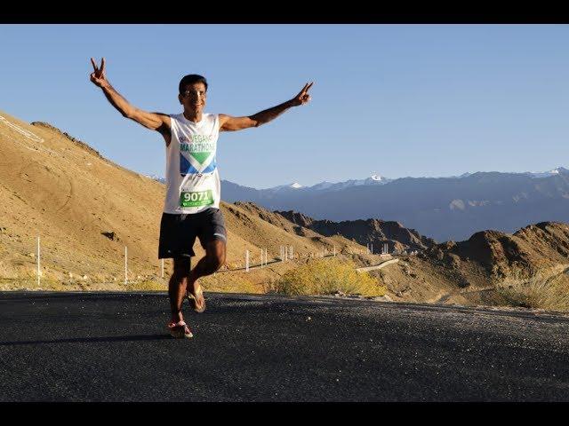 Rajat Wadhwa @ Ladakh Marathon 2019 (8th ed)