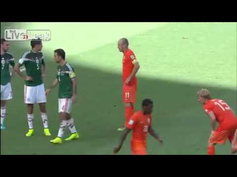 PlayerCam Arjen Robben Mexico vs Holanda World Cup Brasil 2014 - Penal & Gol