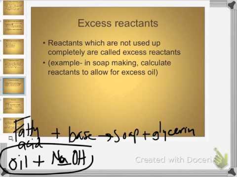 chemistry 3-31-16 limiting & excess reactants