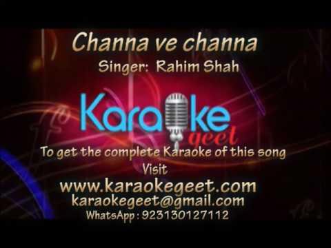 Rahim Shah-Channa ve channa (Karaoke)